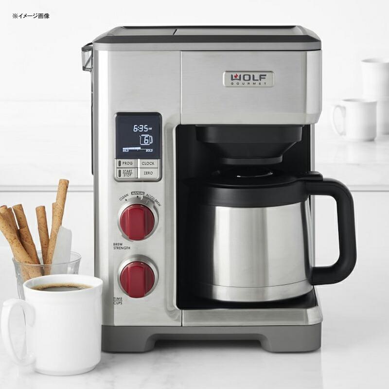 コーヒーメーカー 豆計量機能付 プログラムタイマー 10カップ ステンレスカラフェ Wolf Gourmet Programmable Coffee System WGCM100S 家電