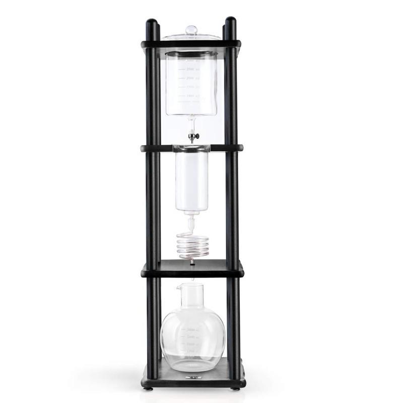 ヤマガラス コールドブリューコーヒーメーカータワー 25カップ ブラック Yama Glass YAMCDM25SBK Drip Tower YAMA Cold Brew Coffee Maker, 25 Cup, Black