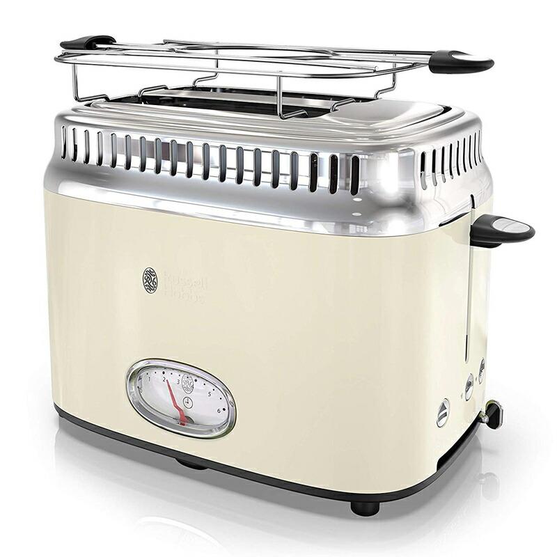 ポップアップトースター ラッセルホブス 2枚焼 レトロ アンティーク かわいい Russell Hobbs TR9150CRR Retro Style Toaster 2-Slice 家電