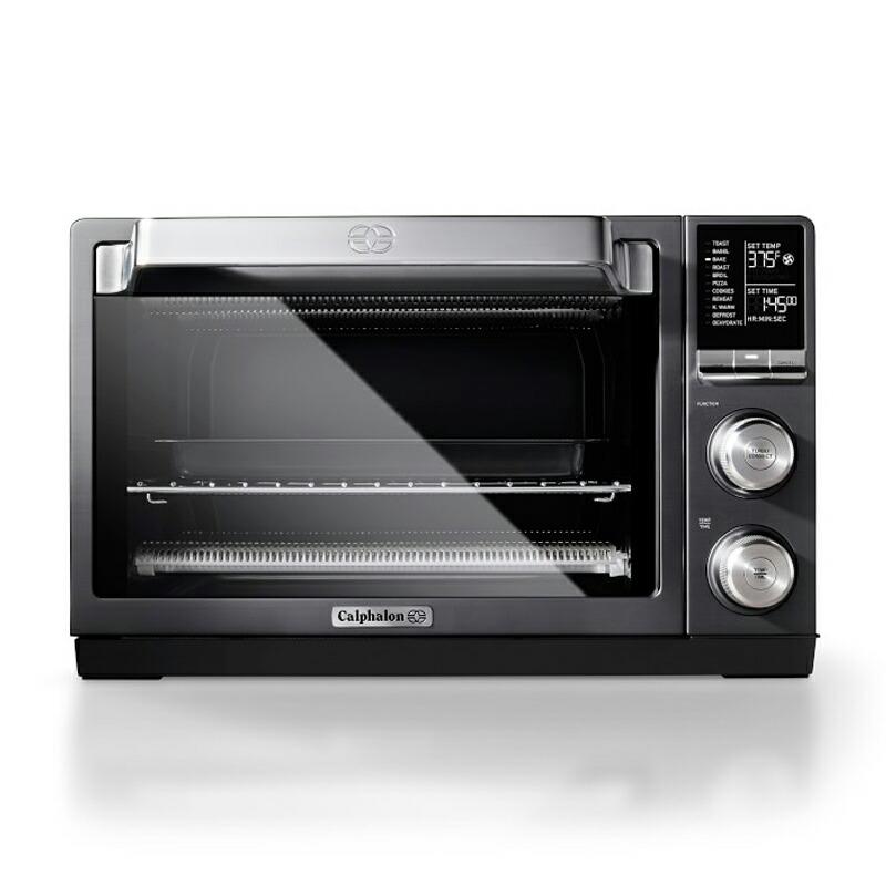 オーブン 30cmピザが焼ける カルファロン Calphalon Quartz Heat Countertop Toaster Oven, Dark Stainless Steel TSCLTRDG1 家電