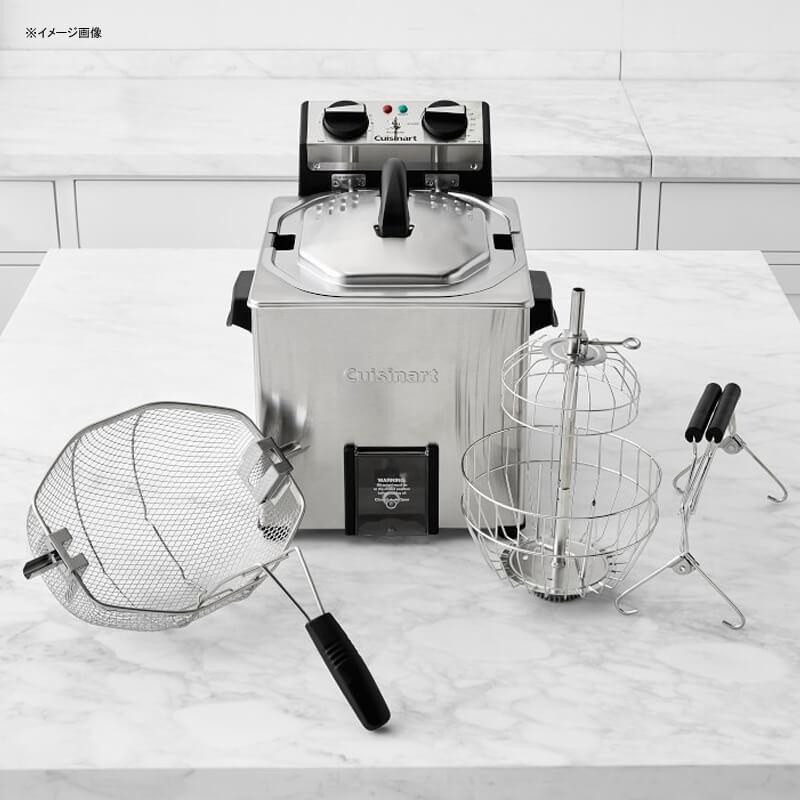 電気フライヤー タイマー機能 大容量 ロティサリーチキン クイジナート Cuisinart CDF-500 Extra-Large Rotisserie Deep Fryer, Silver 家電
