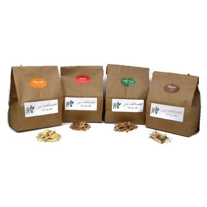 燻製用 ウッドチップ スモークチップ 4種セット アップル オーク オレンジ ピーカン Jax Smok'in Tinder Premium BBQ Wood Chips for Smokers Variety Pack - Apple, Post Oak, Orange and Pecan Packed in 2.90 Liter Paper Bags