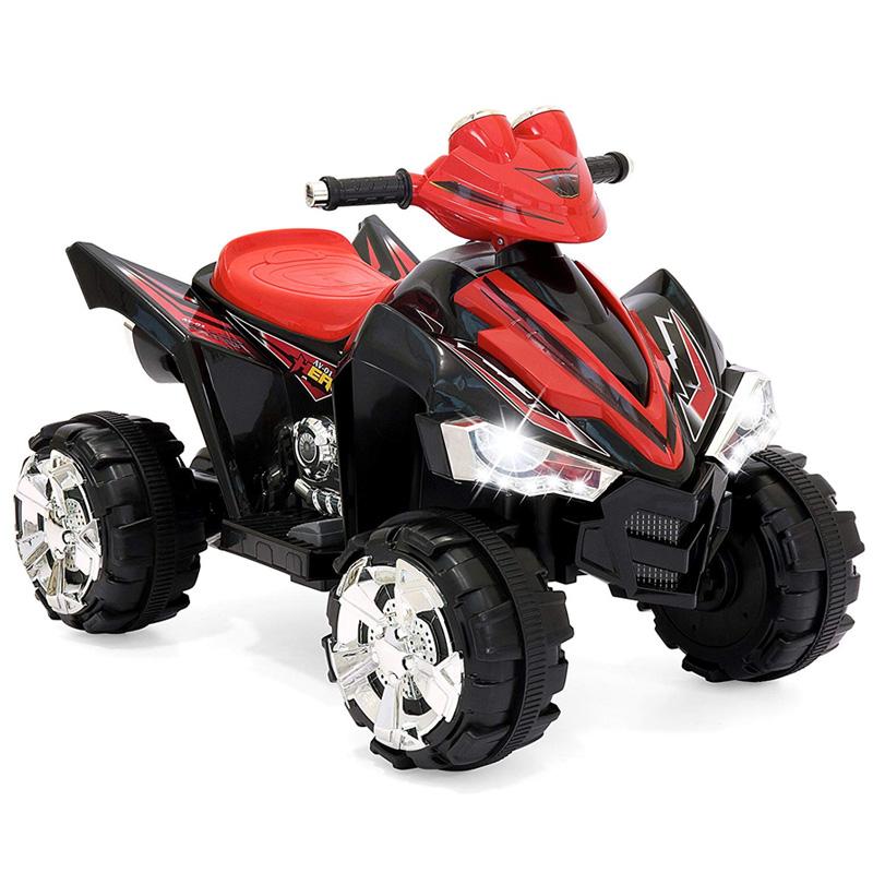 乗用玩具 子供用 電動四輪バギー 12Vバッテリー付 レッド 赤 乗り物 電動カー Best Choice Products 12V Kids Battery Powered Electric 4-Wheeler Quad ATV Ride-On Toy