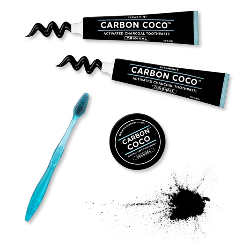 カーボンココ 炭のパワーで歯のホワイトニング カーボン・ココ オーガニック 歯磨き粉 歯ブラシ ペースト セット CARBON COCO ULTIMATE CARBON KIT