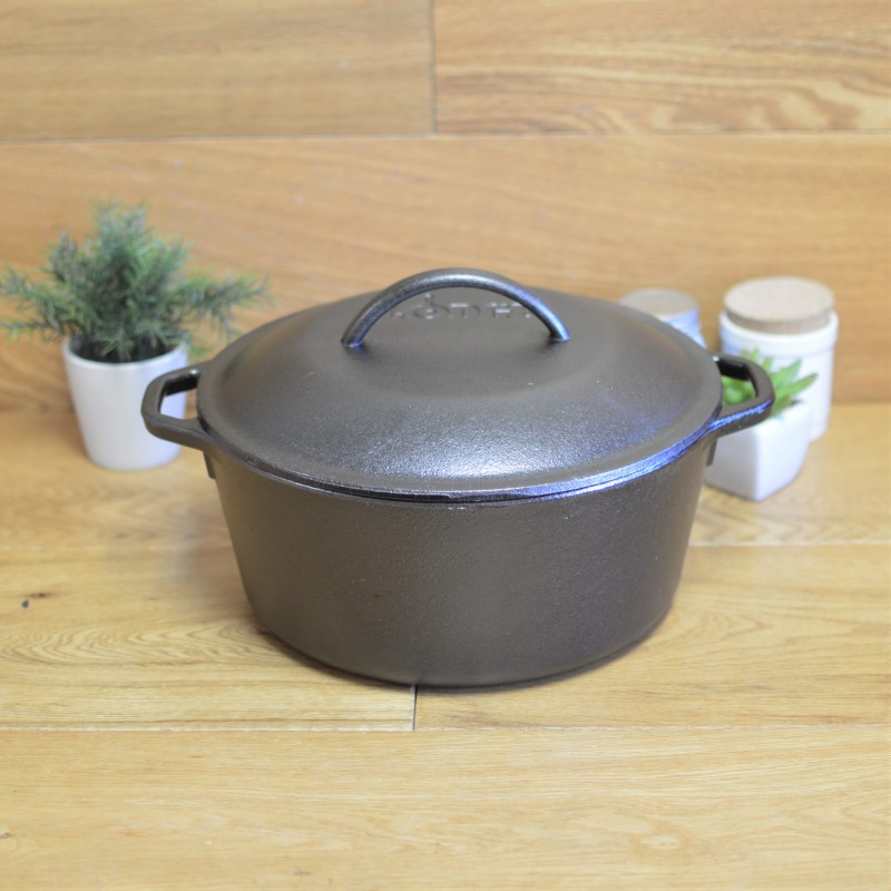 ロッジ キャストアイアン クックウェア 両手鍋ダッチオーブン 1.9L 4.7L 6.6L Lodge L8DOL3 Cast Iron Dutch Oven with Dual Handles, Pre-Seasoned, 5-Quart 5-Quart 7-Quart