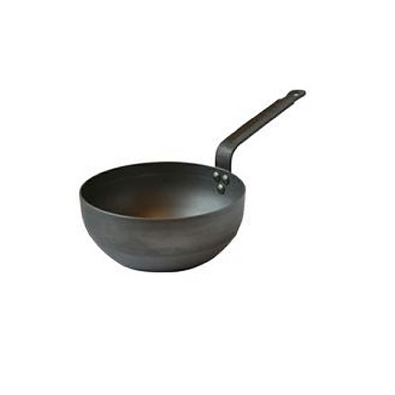 カーブドソテーパン 20cm ブラックスチール IH対応 ムビエル フランス Mauviel 3612.20 M'steel Curved splayed saute pan