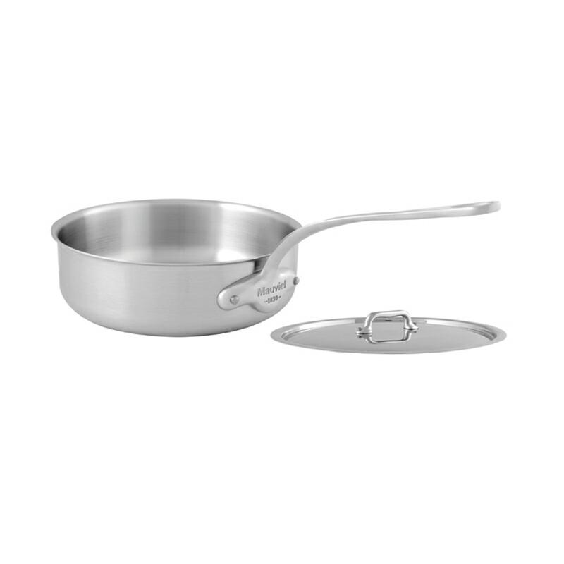 【送料無料】 ソテーパン フタ付 20cm ステンレス IH対応 ムビエル フランス Mauviel 5011.21 M'Urban Saute Pan with lid