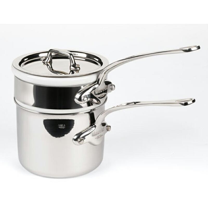 【送料無料】 ベインマリー ダブルボイラー 14cm 1.4L ステンレス 5層 IH対応 ムビエル フランス Mauviel 5204.14 M'cook Bain-marie
