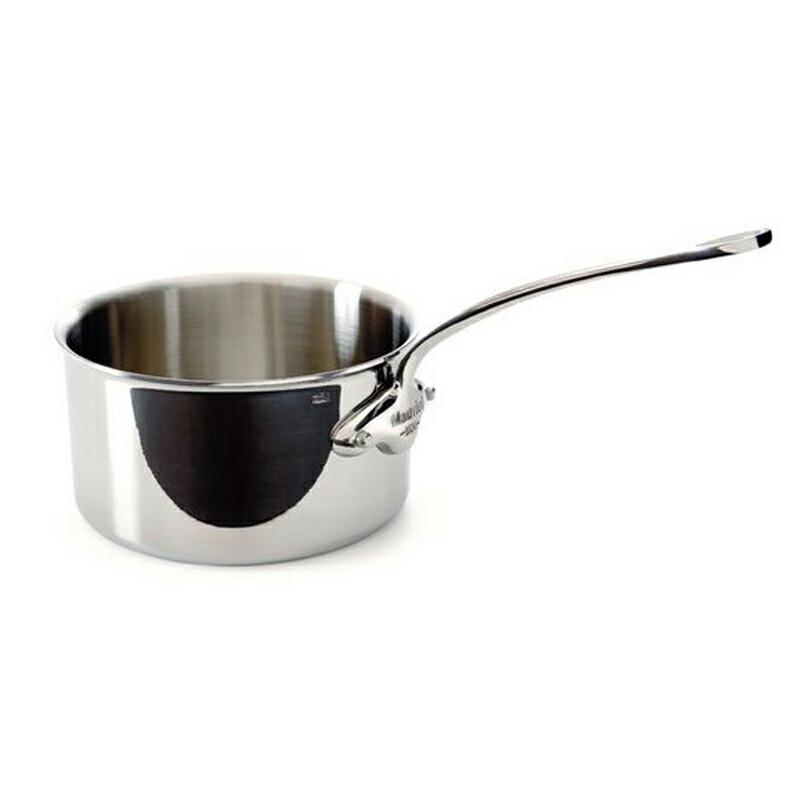 ソースパン 片手鍋 12cm 700ml ステンレス 5層 IH対応 ムビエル フランス Mauviel 5210.12 M'cook Saucepan