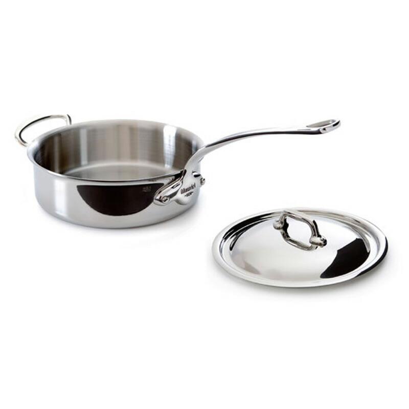 ソテーパン フタ付 24cm 3.1L ステンレス 5層 IH対応 ムビエル フランス Mauviel 5211.25 M'cook Saute pan