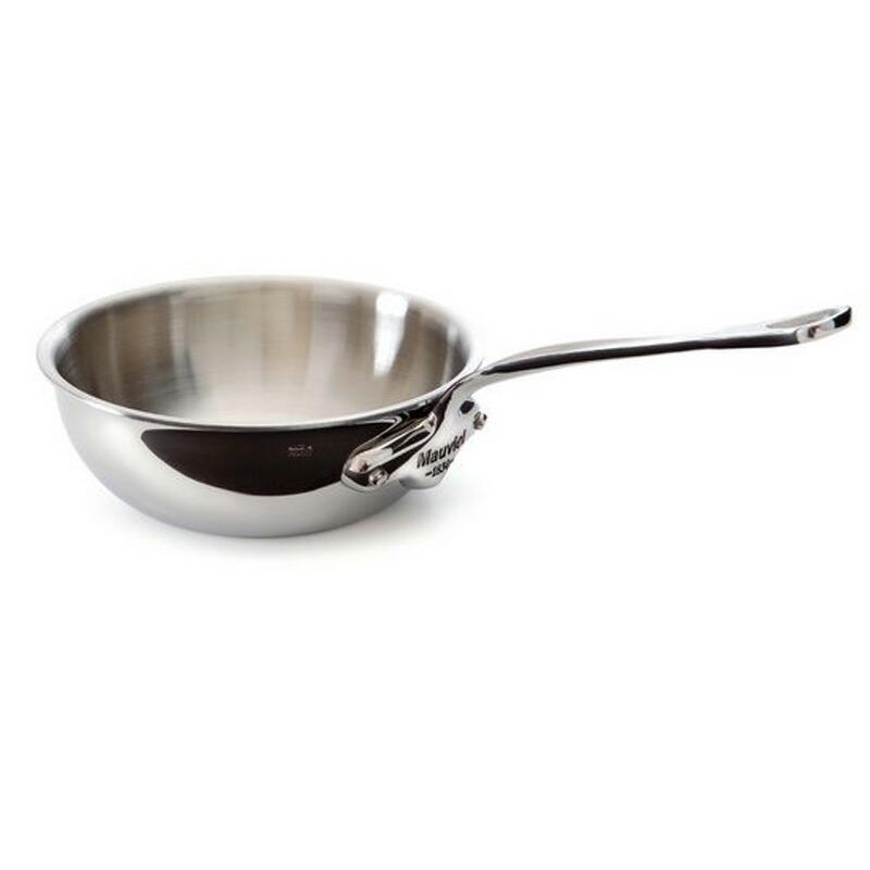 【送料無料】 カーブドソテーパン 20cm 1.8L ステンレス 5層 IH対応 ムビエル フランス Mauviel 5212.20 M'cook Curved splayed saute pan