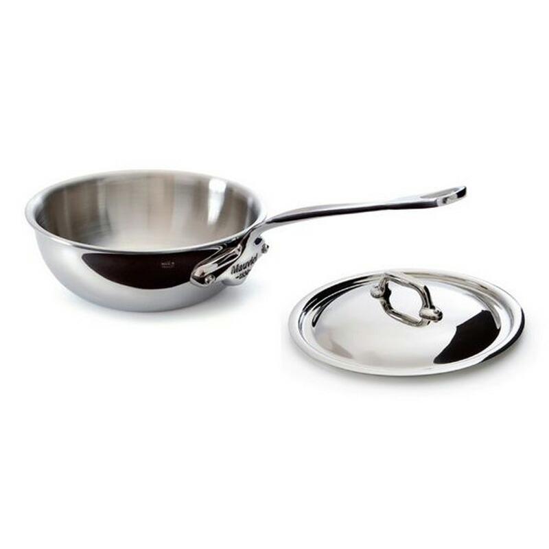 【送料無料】 カーブドソテーパン フタ付 24cm 3L ステンレス 5層 IH対応 ムビエル フランス Mauviel 5212.25 M'cook Curved splayed saute pan