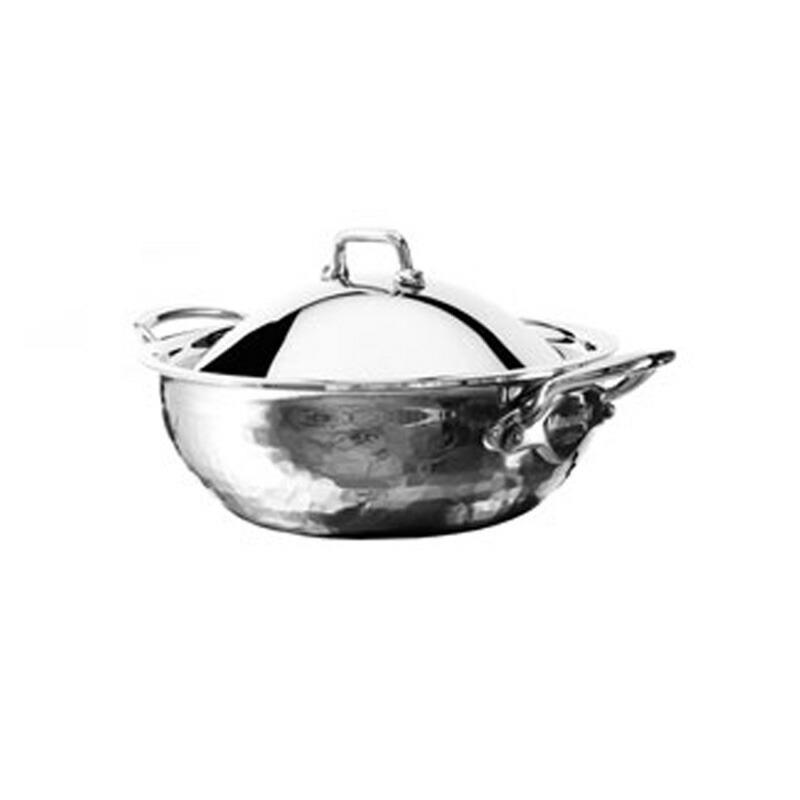 カーブドソテーパン 20cm 1.8L ステンレス 5層 IH対応 ムビエル フランス Mauviel 5272.21 M'Elite Curved splayed saute pan