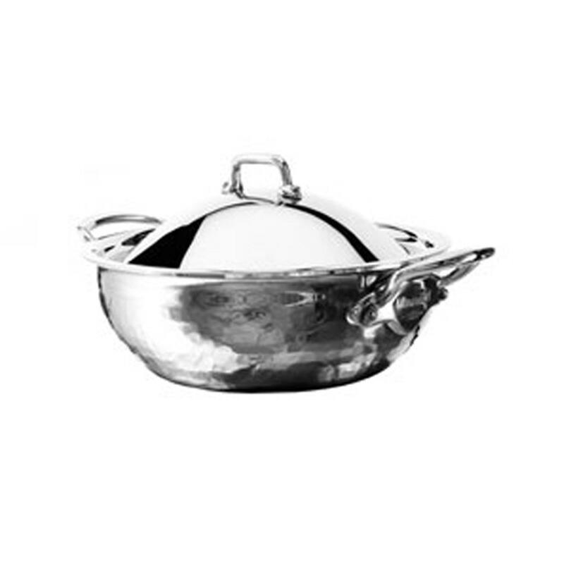 【送料無料】 カーブドソテーパン 24cm 3L ステンレス 5層 IH対応 ムビエル フランス Mauviel 5272.25 M'Elite Curved splayed saute pan