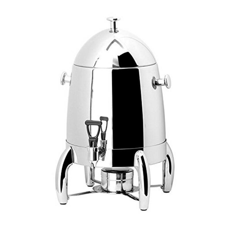 コーヒーサーバー ステンレス 12L ディスペンサー ホテル レストラン パーティー 業務 イベント 結婚式 PrestoWare PW-812, 12.6-Quart Deluxe Stainless Steel Coffee Urn With Chrome Legs for Catering