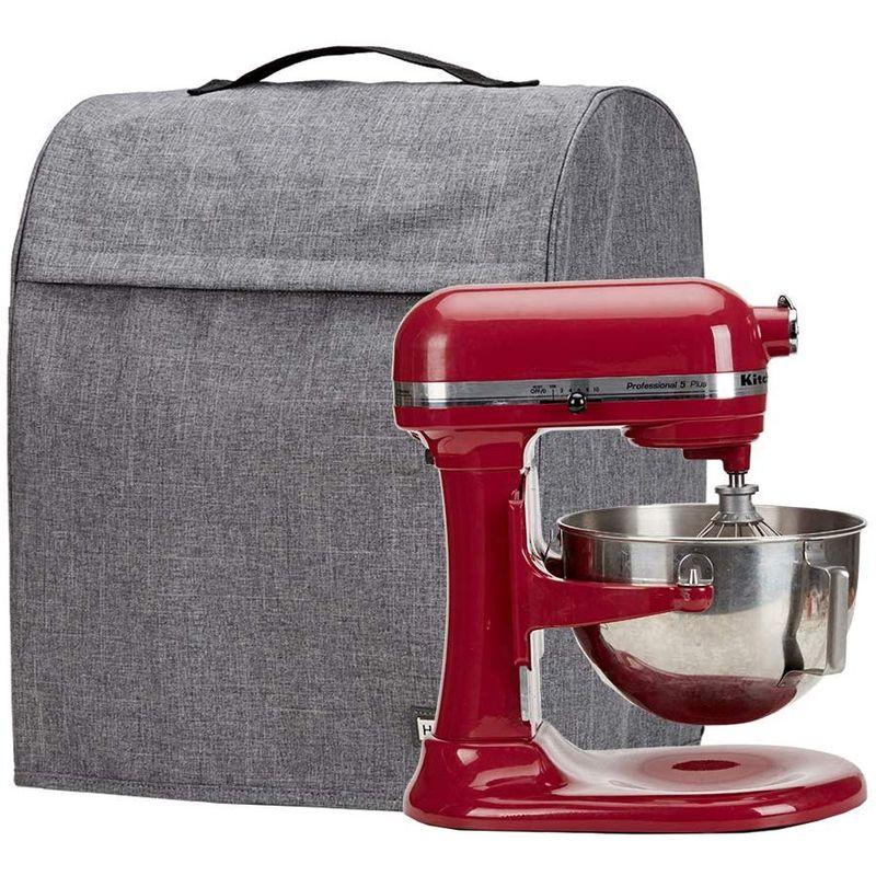 キッチンエイド ボウルリフト 5-8クォート スタンドミキサー用 カバー ポケット付 HOMEST Stand Mixer Quilted Dust Cover with Pockets Compatible with KitchenAid Bowl Lift 5-8 Quart