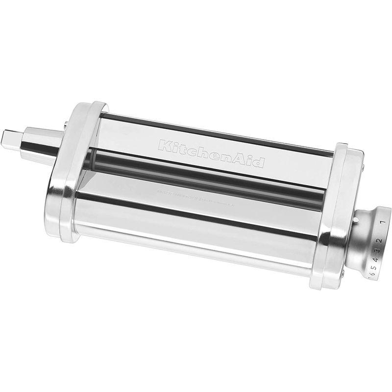 キッチンエイド パスタローラー スタンドミキサー用 アタッチメント KitchenAid KSMPSA Pasta Roller Attachment, Silver