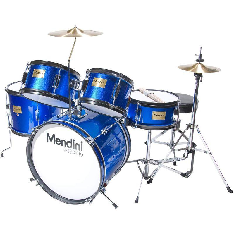 ドラムセット 子供用 キッズ ジュニア Mendini by Cecilio 16 inch 5-Piece Complete Kids / Junior Drum Set with Adjustable Throne, Cymbal, Pedal & Drumsticks MJDS-5