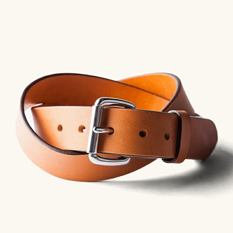 タンナーグッズ レザーベルト タン ステンレスバックル アメリカ製 TANNER GOODS Standard Belt