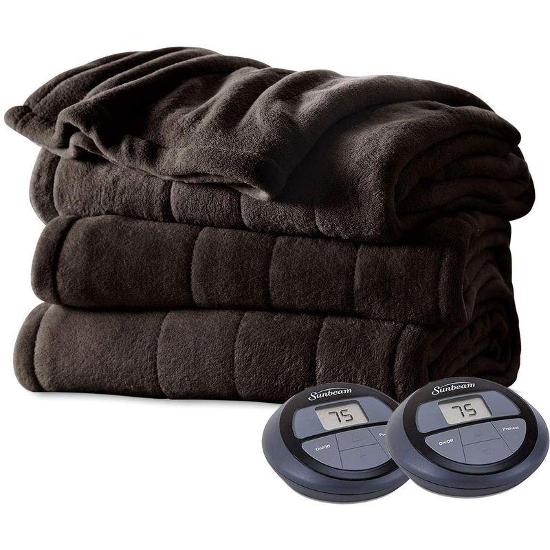 電気毛布 ヒートブランケット キングサイズ サンビーム Sunbeam Imperial Plush Heated Blanket-King- 家電