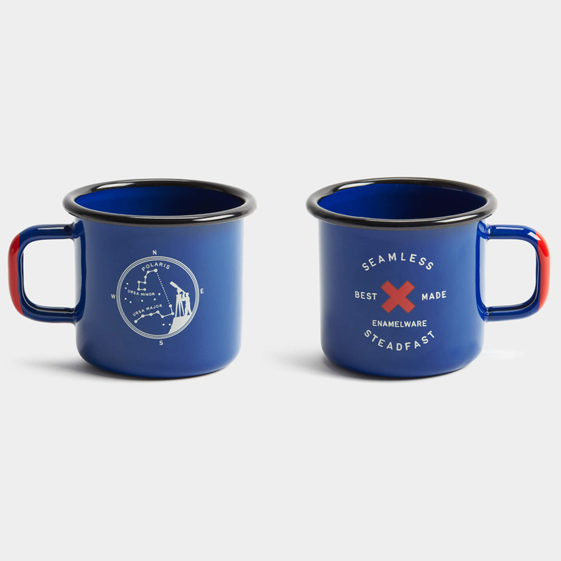 マグカップ 410ml 2個セット ホーロー ポラリス 北極星 限定版 セルビア製 キャンプ Best Made The Limited Edition Polaris Cups