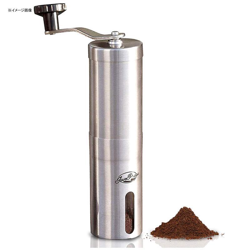 豆挽き 手動 ステンレス コーヒーミル うす式 臼式 JavaPresse Manual Coffee Grinder with Conical Burr Mill, Brushed Stainless Steel