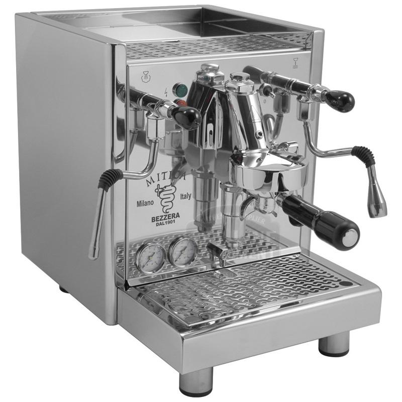 業務品質 エスプレッソマシン HXボイラー PID ステンレス Bezzera Mitica Commercial Espresso Machine HX SS PID boiler switchable tank / direct connect Rotary Vane Pump 家電