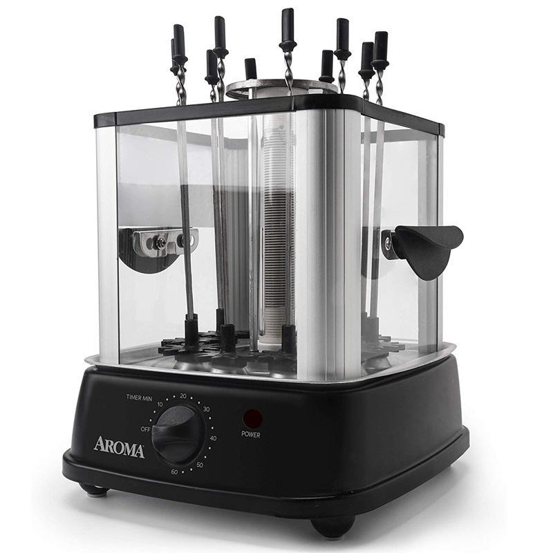ケバブメーカー 10本同時調理 自動回転 串焼き Aroma Housewares ABT-106 Auto Rotating Kebab Maker, 10 Skewers, Black 家電