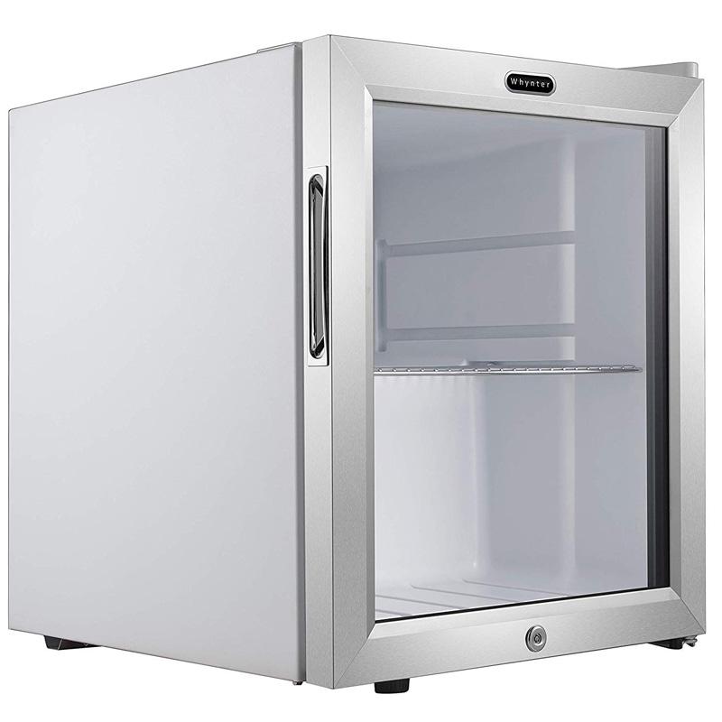 冷蔵庫 最大62缶 鍵付き ガラスドア リバーシブルドア ステンレス Whynter BR-062WS, 62 Can Capacity Stainless Steel Beverage Refrigerator with Lock, White 家電