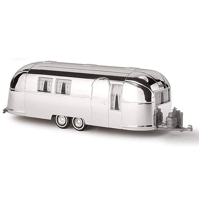 エアストリーム キャンピングトレーラー HOスケール モデル ブッシュ キャンピングカー Busch 44982 Airstream Trailer 1958 Silver HO Scale Model