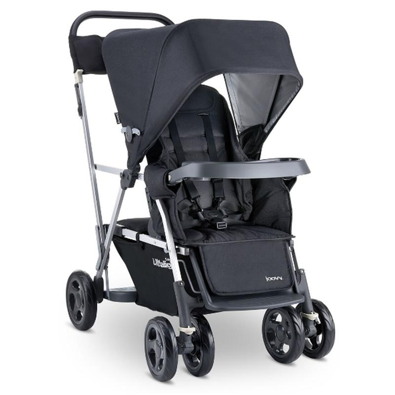 ベビーカー ジュービー カーブス ウルトラライト 限定モデル ダブルタンデム 2人用 最大40kgまで レザーハンドル 立つ 座る ベンチ Joovy Caboose Ultralight Limited Edition Sit and Stand Stroller 8047