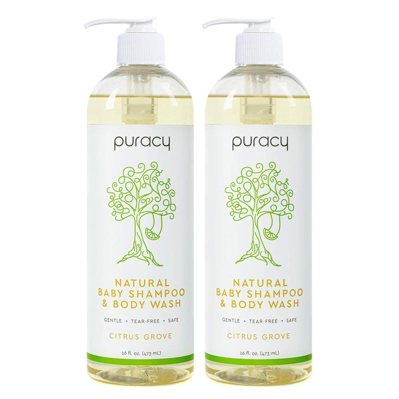ナチュラル ベビーシャンプー 473ml 2本セット ボディウォッシュ バスソープ 敏感肌 目がしみない 赤ちゃん 子ども Puracy Natural Baby Shampoo & Body Wash, Gentle Bath Soap for Sensitive Skin, Tear-Free, Sulfate-Free, 16 Ounce (2-Pack)