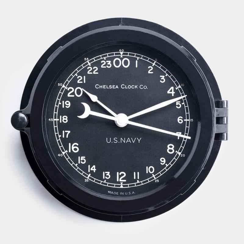 時計 直径20cm チェルシーデッキクロック アメリカ製 米海軍 Best Made The 24-Hour Chelsea Deck Clock