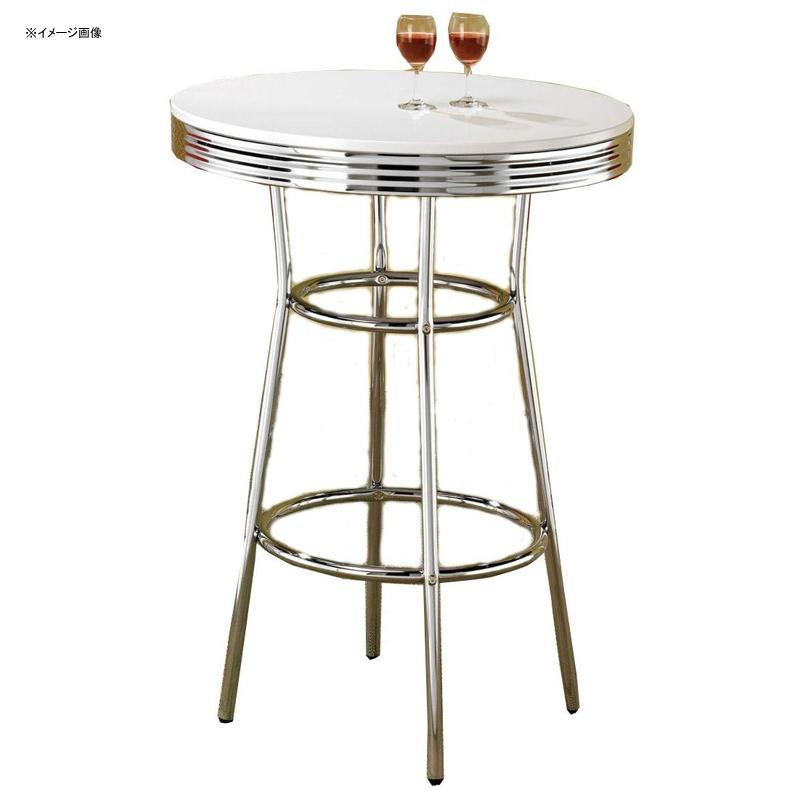 バーテーブル 丸型 パブテーブル クロム ホワイト レトロ アンティーク ビンテージ Cleveland 50's Soda Fountain Bar Table Chrome and White