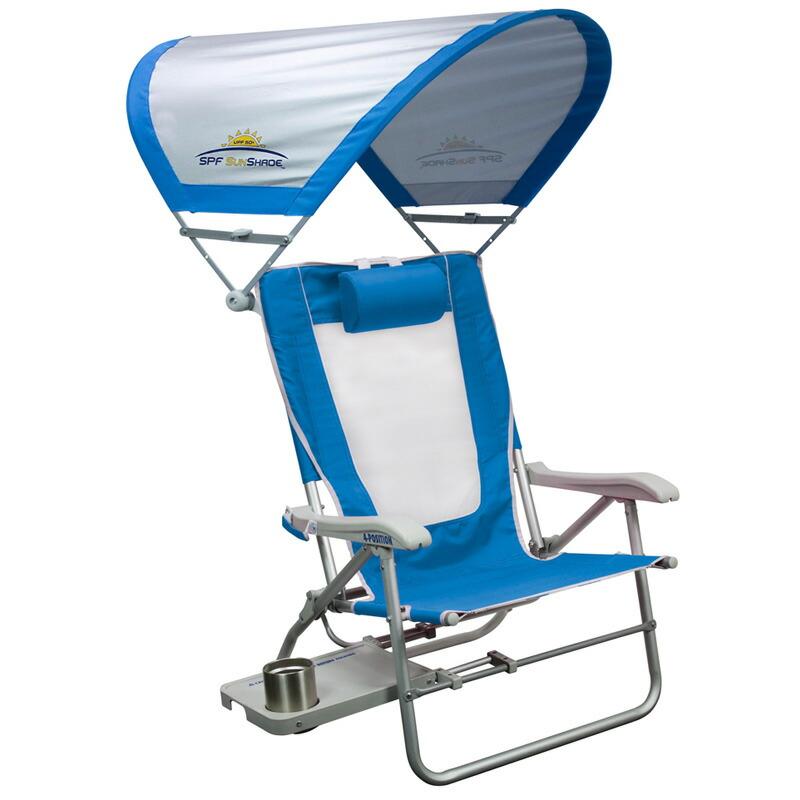 折りたたみ椅子 日よけ付 リクライニング サンシェード チェアー アウトドア キャンプ 海 GCI Outdoor BIG SURF WITH SUNSHADE