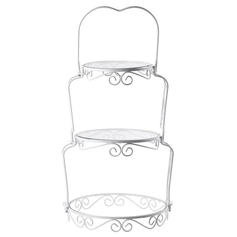 送料無料 ディスプレイスタンド 丸形 3段 プラスチックプレート ワイヤー ホワイト カフェ レストラン 143307841 プレゼント ビュッフェ バイキング Graceful Wilton Display Tiers Cake 海外並行輸入正規品 307-841