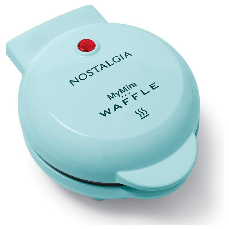 ミニワッフルメーカー アクア 水色 ノスタルジア レトロ クラシック Nostalgia MWF5AQ MyMini Personal Electric Waffle Maker, Aqua 家電