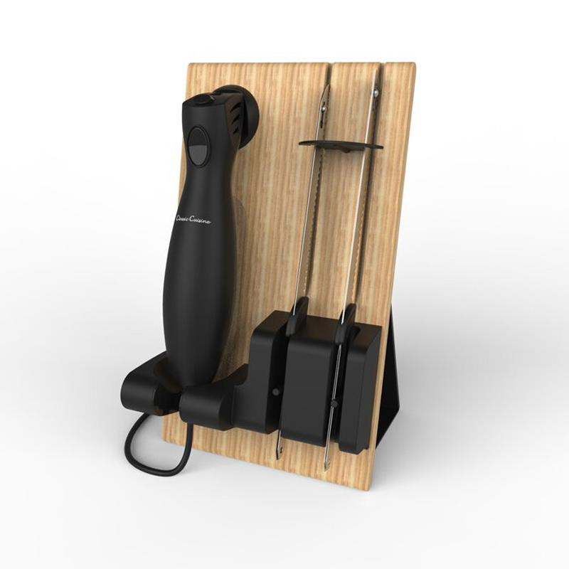 電動ナイフ スタンド付 肉 パン ロースト ターキー チーズ フルーツ ハム Classic Cuisine 3 Piece Electric Carving Knife Set AASS1049 家電
