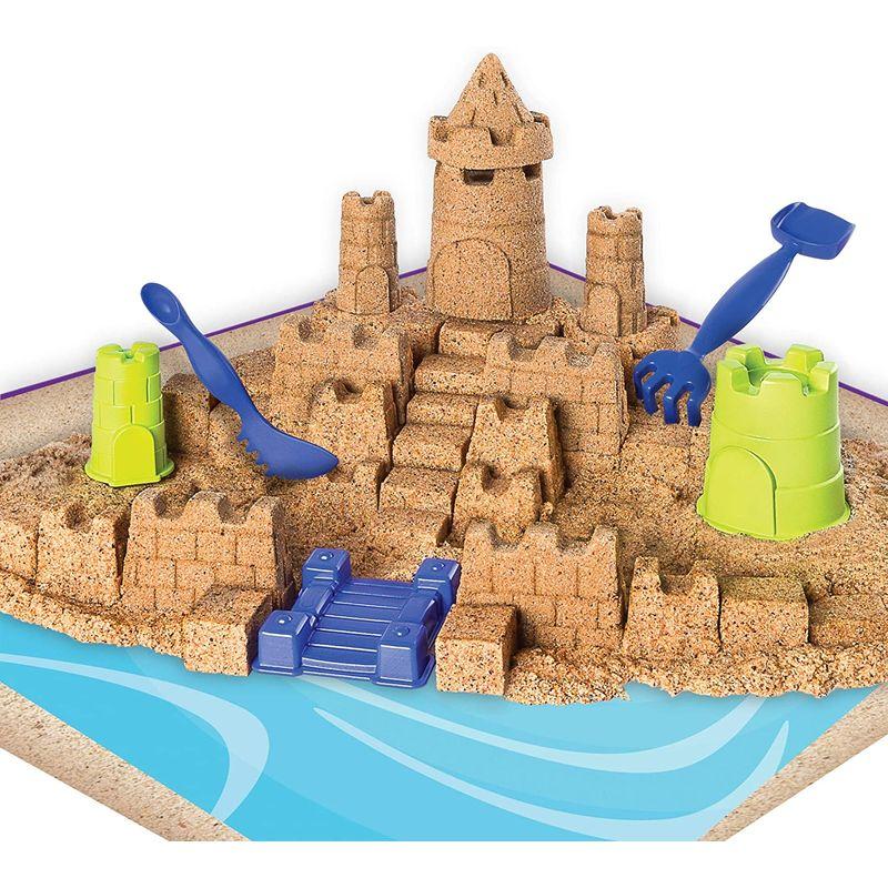 お部屋で砂遊び マジックサンド 1.4kg お城 おもちゃ 子供 3歳以上Kinetic Sand Beach Sand Kingdom Playset with 3lbs of Beach Sand, for Ages 3 and Up