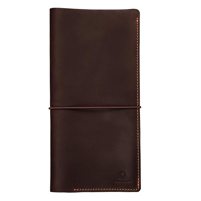 航空券 パスポートケース 革製 レザー トラベルウォレット ホルダー チケット ボーディングパス 海外旅行 トラベル Genuines Long Leather Travel Wallet ? Boarding Pass Passport Holder with Strap