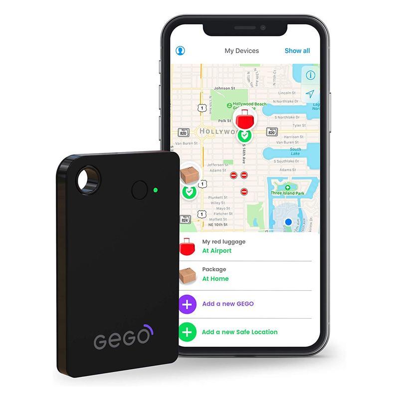 ラゲッジトラッカー 荷物追跡 GSM グローバル3G Bluetooth 旅行 ロストバゲッジ GEGO Luggage Tracker - Worldwide Real Time Tracking Device - Travel Baggage GSM Locator (Better Than GPS) Global 3G/Bluetooth with Mobile App (Airline Compliant) Black
