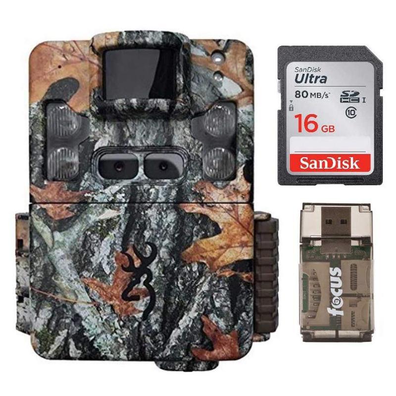 トレイルカメラ メモリーカード カードリーダー付 自動撮影カメラ センサーカメラ 野生動物カメラ 夜間撮影 静止画 動画 フルHD Browning Strike Force Pro XD 24MP Trail Camera with Memory Cards and Focus Camera Card Readers | BTC5PXD 家電