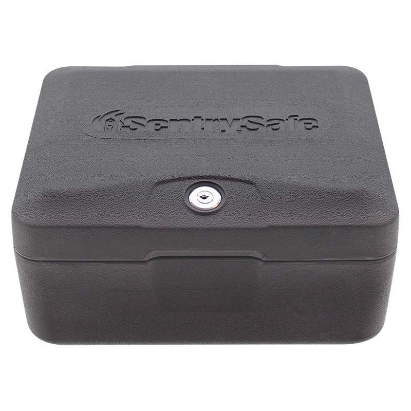 ミニ金庫 セーフボックス 耐火 キーロック付 SentrySafe 0500 Fireproof Box with Key Lock, 0.15 Cubic Feet