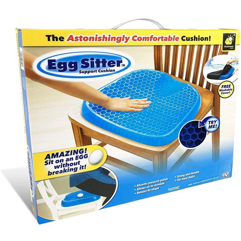 シートクッション エッグシッター サポートクッション ハニカム構造 イッテQ! 通気 涼しい オフィス 椅子 BulbHead Egg Sitter Seat Cushion with Non-Slip Cover, Breathable Honeycomb Design Absorbs Pressure Points