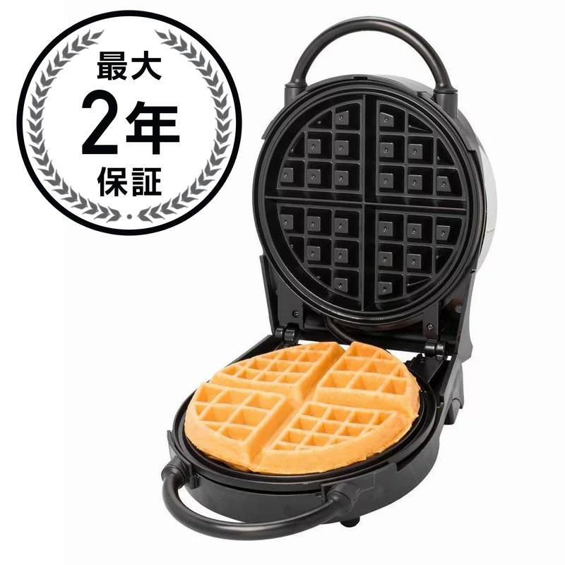 クチーナプロ クラシック ワッフルメーカー ラウンド 丸型 CucinaPro Classic Round 4-Waffle Black Belgian Waffle Maker 1476 家電