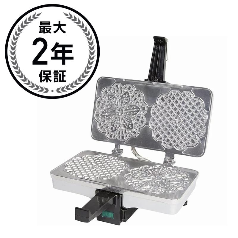 クチーナプロ ピゼルメーカー 2枚焼 Pizzelle Maker- Non-stick Electric Pizzelle Baker Press Makes Two 5-Inch Cookies at Once- Recipes Included 220-05NS 家電