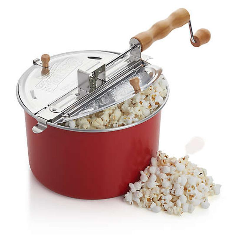 送料無料 直火 ポップコーンメーカー レッド 限定モデル 2020 新作 Crate Stovetop Barrel Popcorn Red Popper and セール商品