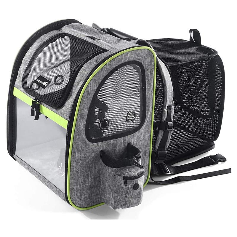 送料無料 バックパック型 ペットキャリー メッシュ 8kgまで 小型犬 猫 Pecute Pet Carrier Backpack Dog 日本 Expandable with Breathable Mesh Up 18 Pets Puppies to for Hiking Camping Hold Cats Bag Dogs Small 新登場 Outdoor Lbs Travel