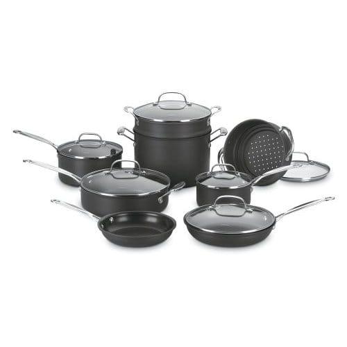 クイジナート ノンスティック フライパン 鍋 14点セット Cuisinart Chef's Classic Nonstick Hard-Anodized 14-Piece Cookware Set 66-14N