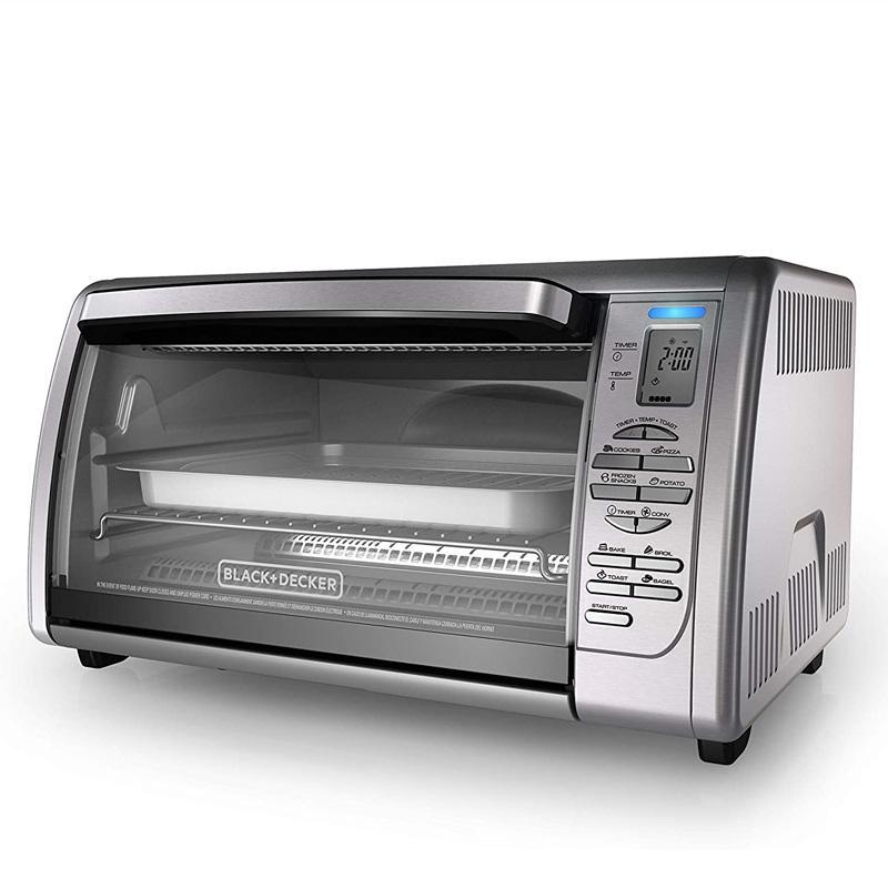 30日間返金保証 送料無料 コンベクションオーブン サービス シルバー ブラック + 価格 デッカー BLACK+DECKER CTO6335S 家電 Toaster Silver Convection Countertop Oven
